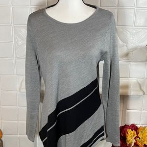 NWT NY&C Black and Gray Long Sleeve Tunic